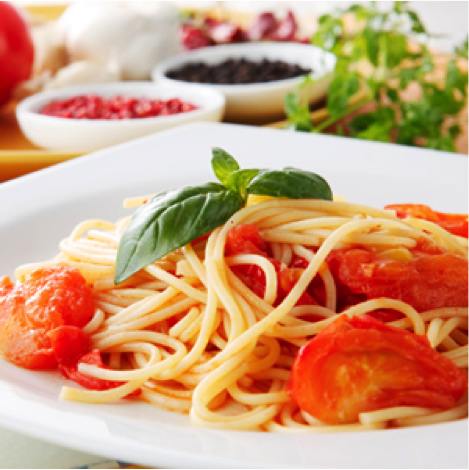 Spaghetti with Tomatos